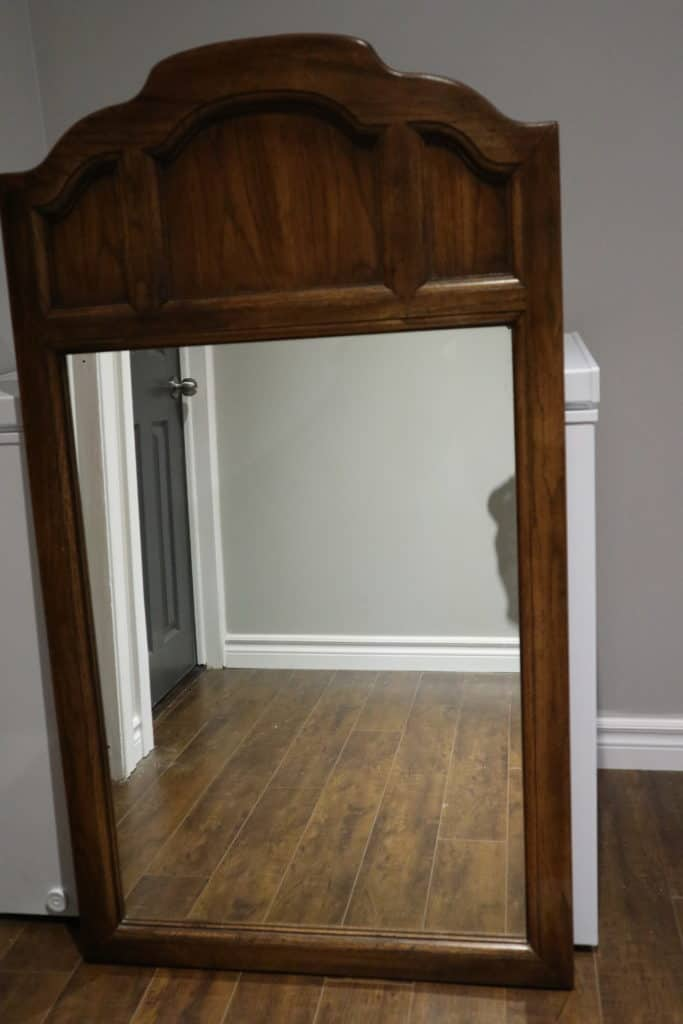 How To Update An Old Mirror In 3 Easy Diy Steps Three Coats Of Charm
