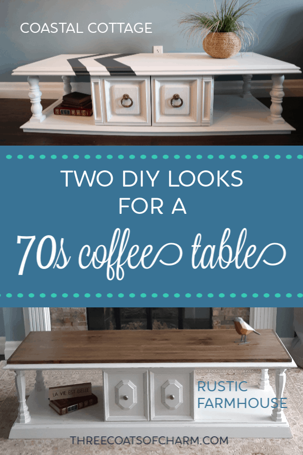 Two Modern Looks For A Vintage 70s Coffee Table Three Coats Of Charm
