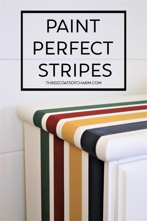 Paint Perfect Stripes Three Coats Of, How To Paint Stripes On Furniture