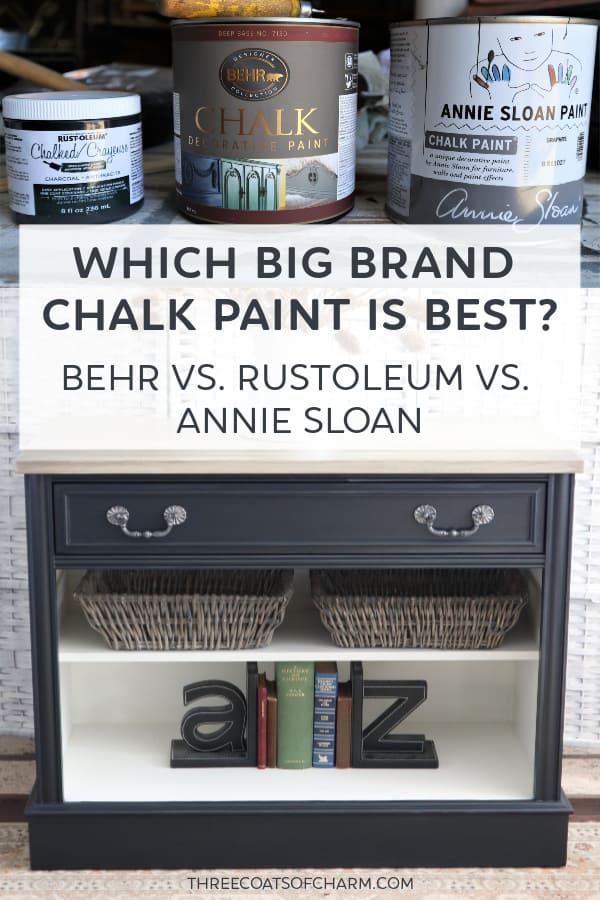 Best Chalk Paint Annie Sloan Rustoleum Or Behr Three Coats Of Charm