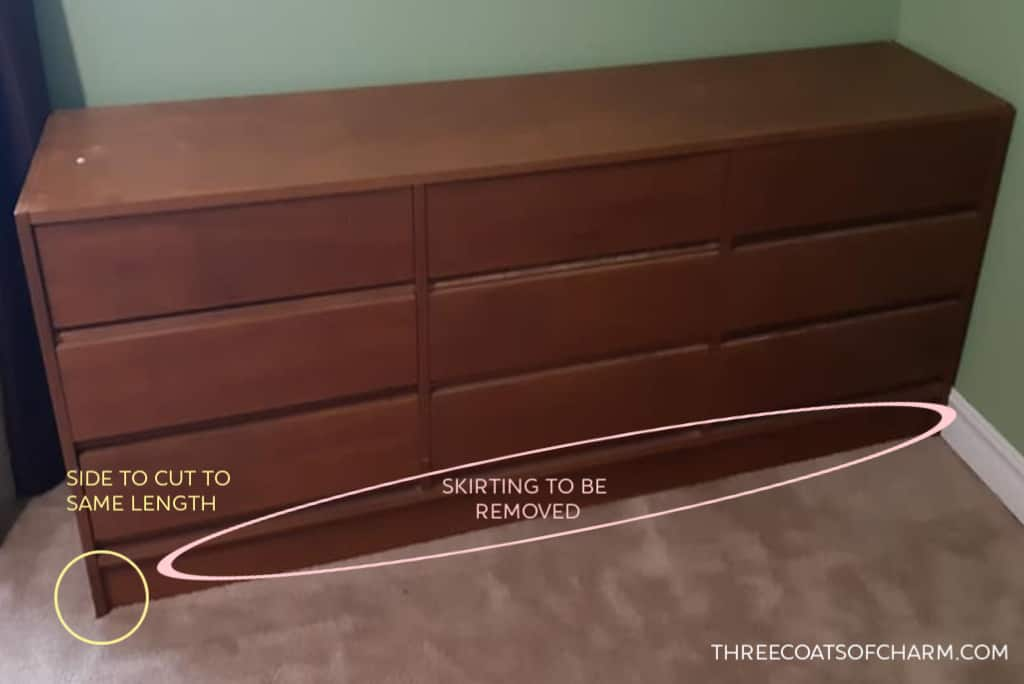 Adding Legs To A Dresser Easily Three, How To Add Furniture Feet
